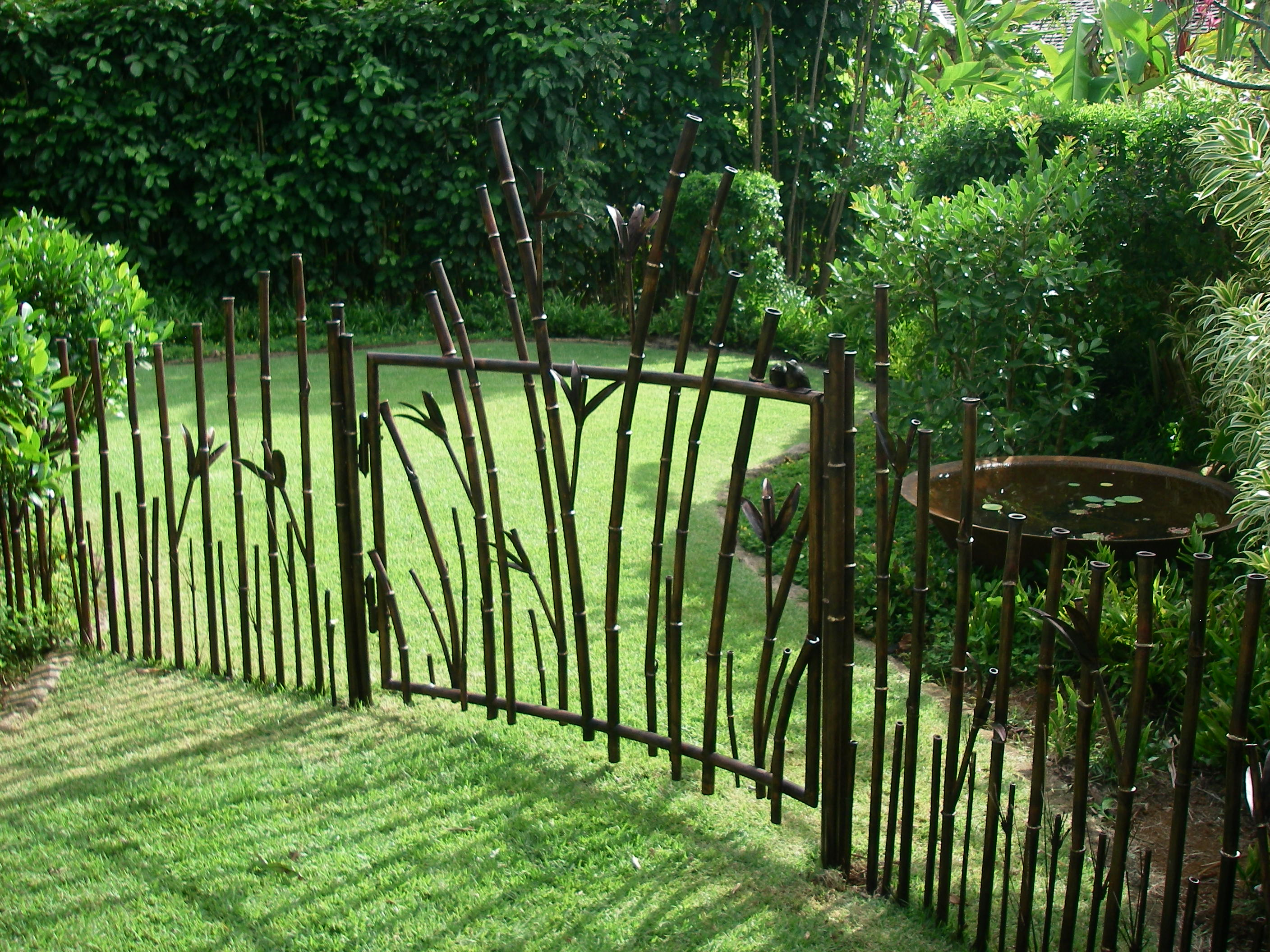 Bamboo fence and gate ideas fencing